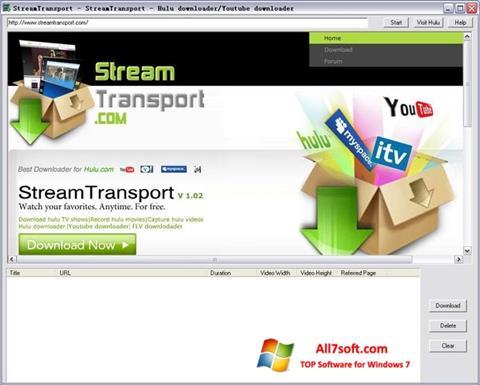 Στιγμιότυπο οθόνης StreamTransport Windows 7