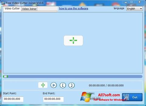 Στιγμιότυπο οθόνης Free Video Cutter Windows 7