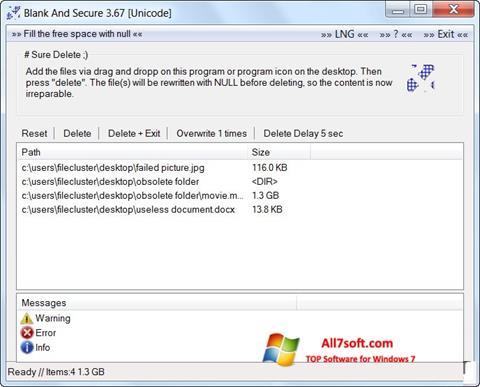 Στιγμιότυπο οθόνης Blank And Secure Windows 7